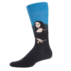 Mona Lisa Socks - Blue