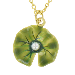 """Water Lilies"" pendant with chain"