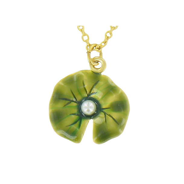 Water Lilies Pendant with chain