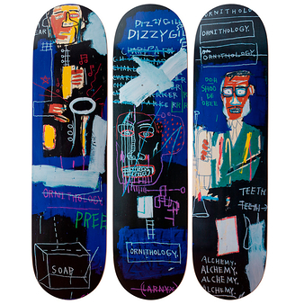 Skateboards triptyque Jean-Michel Basquiat Horn Players - The Skateroom