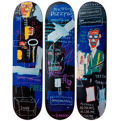 Skateboards Triptych Jean-Michel Basquiat Horn Players - The Skateroom