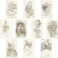 Cécile Reims - Coffret 10 estampes Hans Bellmer