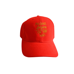 Casquette Michael Jackson On the wall - Rouge