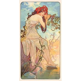 Été - panneau décoratif de la série Les Saisons - Papier sans cadre XS