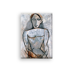 Woman with joined hands Picasso Magnet
