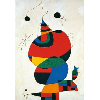 Woman, bird, star (Tribute to Pablo Picasso, February 15, 1966)