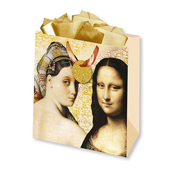 Gift wrap Monna Lisa and Odalisque