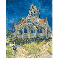 Poster Van Gogh The Church in Auvers-sur-Oise