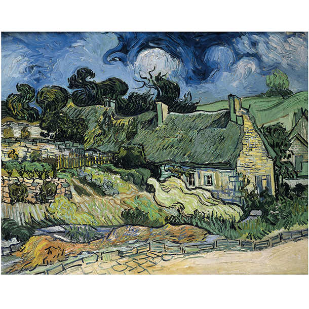 Poster Van Gogh Thatched Cottages at Cordeville
