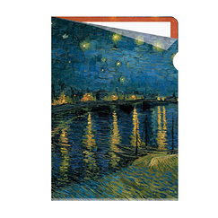 Van Gogh Clear file A4 - Starry night over the Rhône