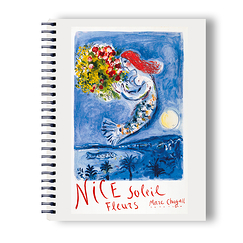 La baie des Anges Chagall Spiral notebook