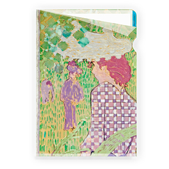 Woman in a checkered dress Bonnard Clear file - A4