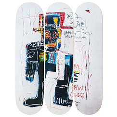 Skateboards triptych Jean-Michel Basquiat Irony of a Negro Policeman - The Skateroom