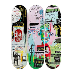 Skateboards Triptych Jean-Michel Basquiat In italian - The Skateroom