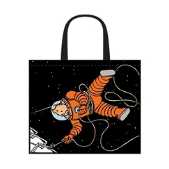Big bag Tintin & Haddock on the moon