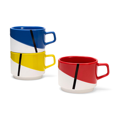 De Stijl - Stacking Mug Set of 3