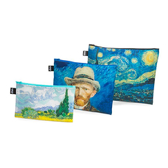 Set of 3 Van Gogh zip pockets - Loqi