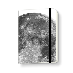 The moon Notebook with elastic