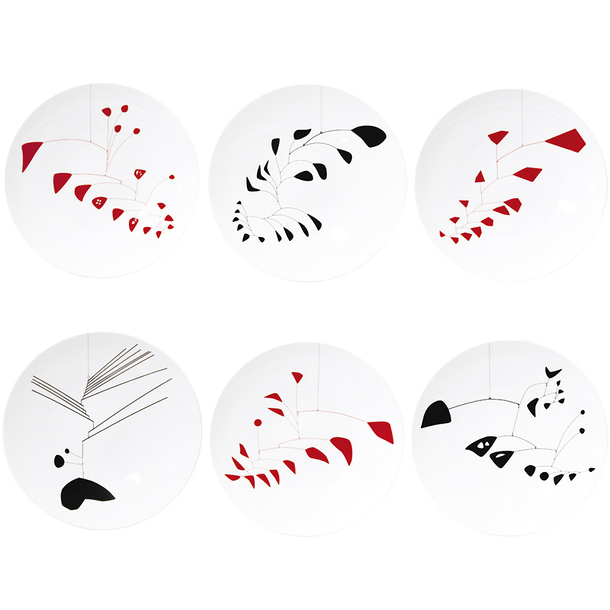 Coffret de 6 assiettes à dîner assorties Calder