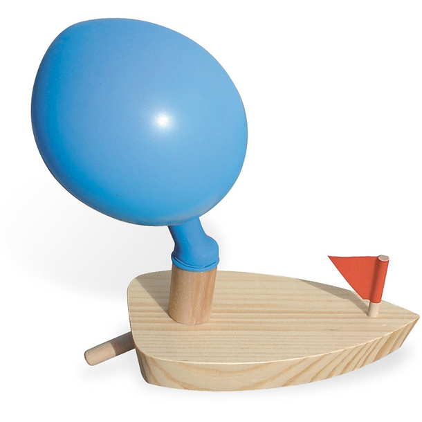Balloon-propelled boat