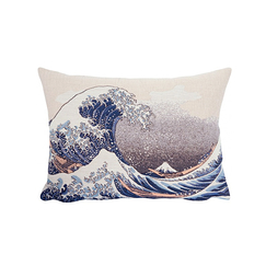 Cushion cover Hokusai The wave