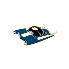 Space Car Pin - Blue