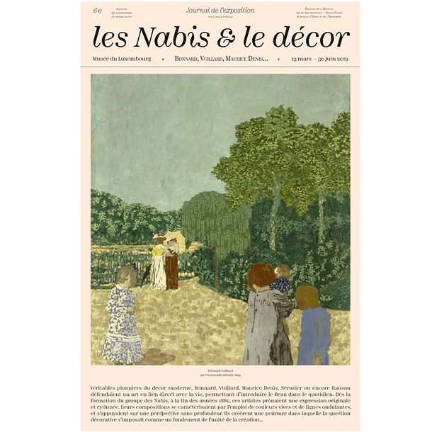 The Nabis and the scenery. Bonnard, Vuillard, Maurice Denis... - Exhibition Newspaper