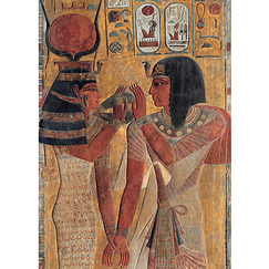Hathor welcoming Sety I Poster