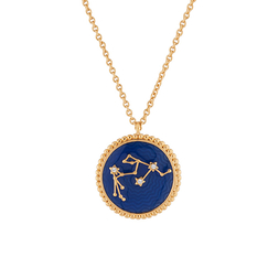 Aquarius Astrological sign Necklace Pendant