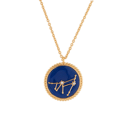 Capricorn Astrological sign Necklace Pendant