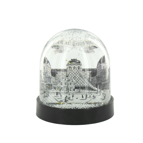 Snow globe JR at the Louvre