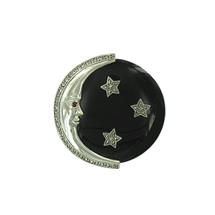 Moon Brooch 3 stars