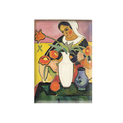Magnet Lute player August Macke