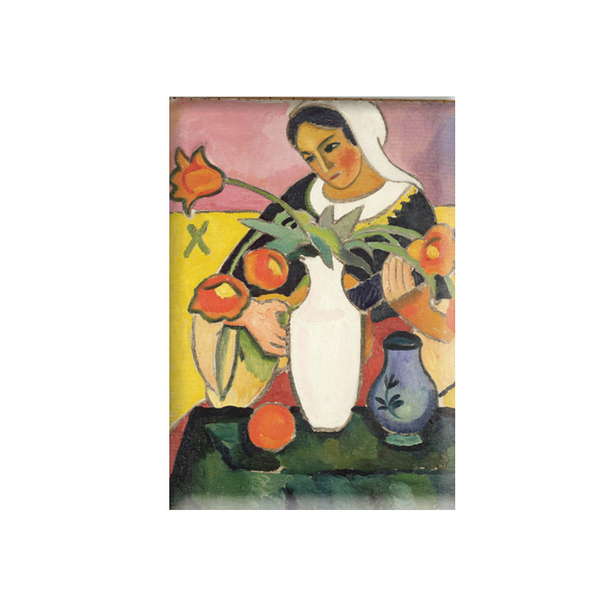 Magnet Joueuse de luth August Macke