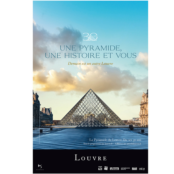 Poster The Louvre 30 years of the Pyramid