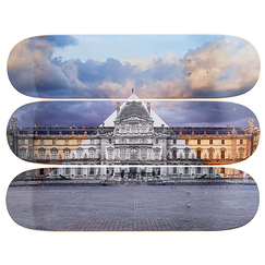 Skateboards Triptyque JR au Louvre