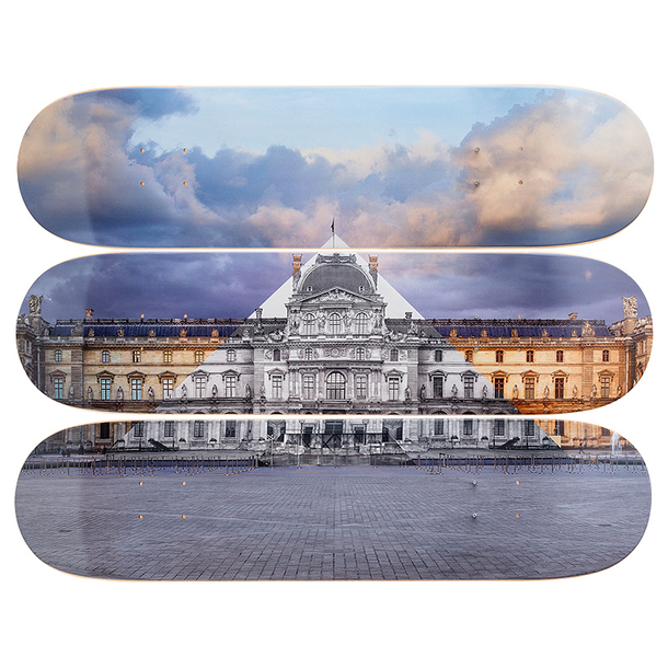 Skateboards Triptych JR at the Louvre - The Skateroom