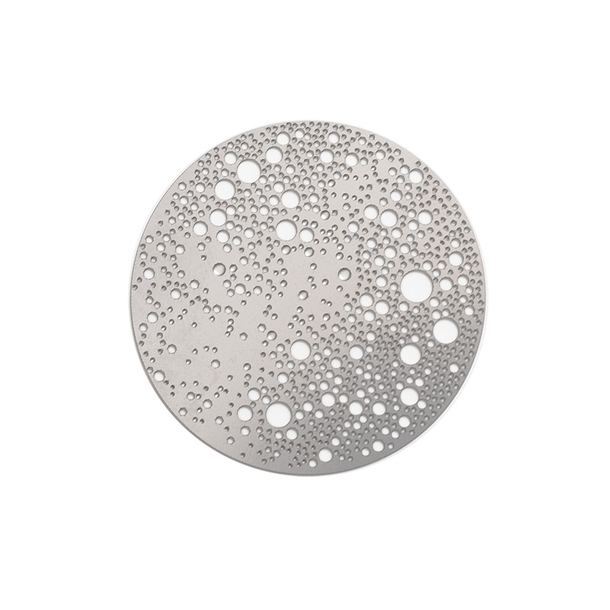 Lunar Small magnetic brooch - Mat stainless steel