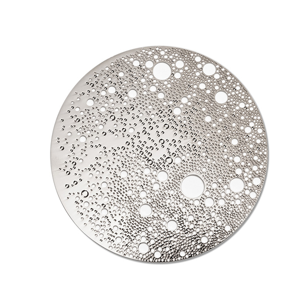 Lunar Large magnetic brooch - Silver-tone stainless steel
