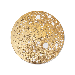 Lunar Large magnetic brooch - Yellow gold stainless steel