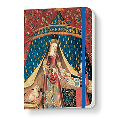 Lady and the unicorn Notebook with elastic