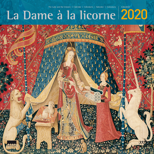 Large Calendar The Lady and the unicorn 2020