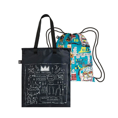 Basquiat Crown & Skull Duo Backpack - Loqi