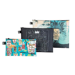 Set of 3 zip pockets Basquiat - Loqi