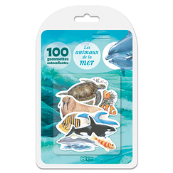 100 self-adhesive stickers - The animals of the sea
