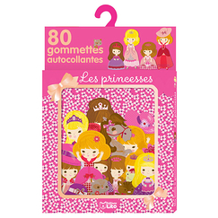 80 Self-adhesive stickers - Princesses