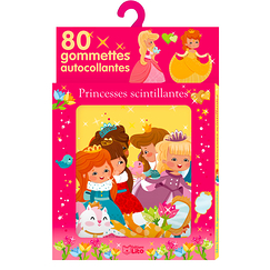 80 Self-adhesive stickers - Glittering Princesses
