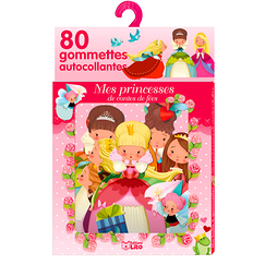 80 Self-adhesive stickers - Fairy tale princesses