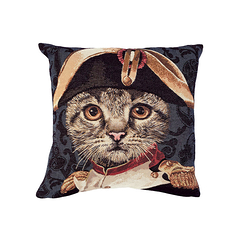 Cushion cover Cat Napoleon - Blue