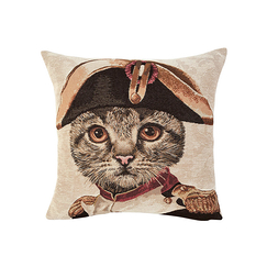 Cushion cover Cat Napoleon - Beige